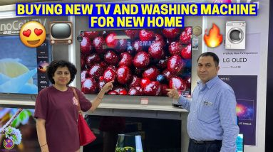 BUYING NEW TV AND WASHING MACHINE FOR NEW HOME !!  🔥🔥